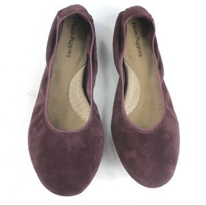 Hush Puppies Ballet Shoes Purple Size 8